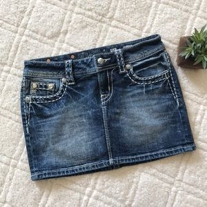 Miss Me Signature Denim Skirt
